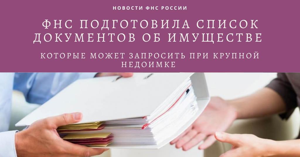 Стало известно, какие документы об имуществе может запросить инспекция при крупной недоимке